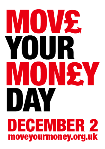 Move Your Money Day UK December 2nd 2011 Flyer